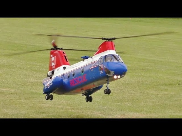 BOEING VERTOL CH-113 LABRADOR TWIN ROTOR SCALE RC RESCUE HELICOPTER - EP - WESTON PARK - 2018