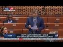Выступление Вадима Новинского перед делегатами Парламентской Ассамблеи Совета Европы