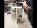 Светильник из деревянного бруска