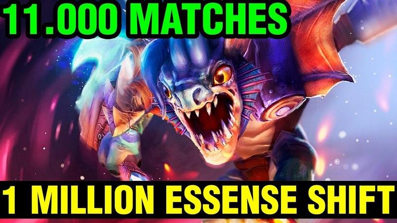 1 MILLION ESSENSE SHIFT GEM - 11.000 MATCHES - 7.15 Top 1 Slark World Gameplay - Dota 2