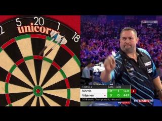 Alan Norris vs Kim Viljanen (PDC World Darts Championship 2018 / Round 1)