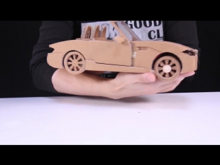 Очумелые ручки... Как сделать RC Car(BMW Z4) - Amazing Cardboard DIY