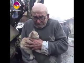 У 83-летнего мужчины сгорел дом, но удалось спасти самое главное