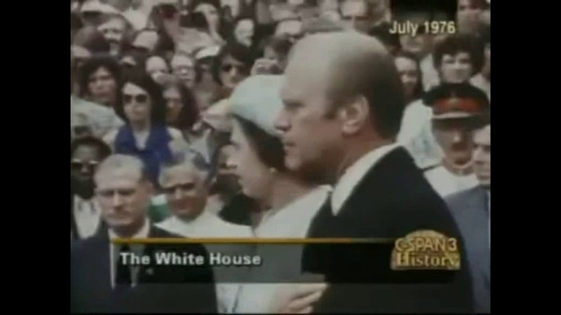Queen Elizabeth II Historic Visit To The White House 1976 | National Anthems