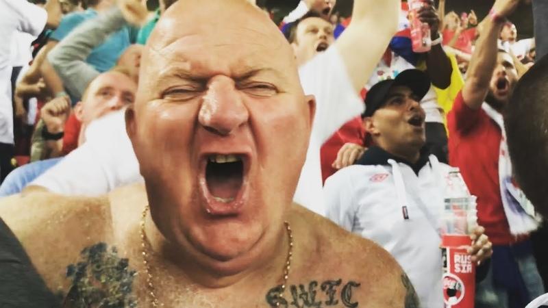 Colombia England. Fans reaction after penalty-shoot. Фанаты празднуют победу сборной Англии