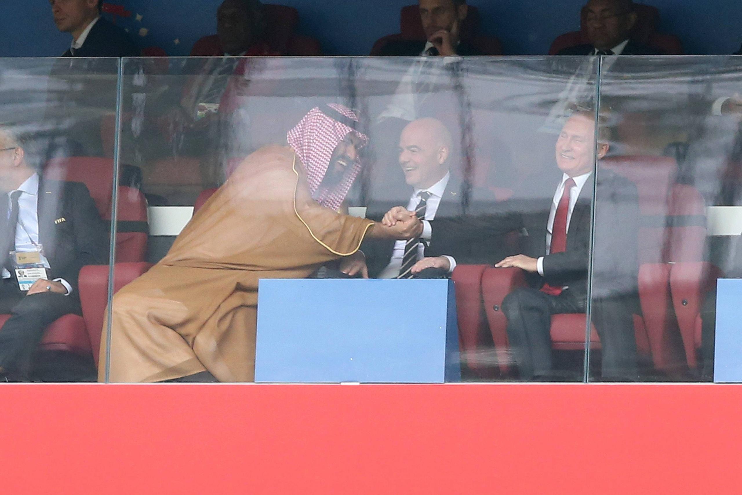 Песков объяснил жесты Путина во время матча сборных России и Саудовской Аравии