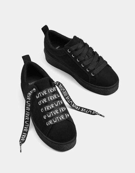 Черные однотонные кроссовки