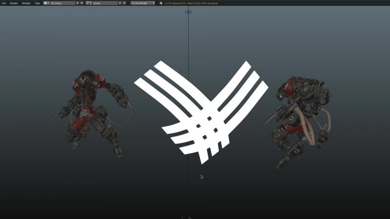 DreadRoamer 2.1 - animation (Sprint, Kick, Attack_R, Attack_L and transition animations)