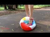 eva teen - Pink platform sandals and balloon