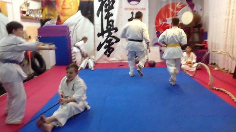 Сайшо додзе сенсей Хамитов практика СФП дети киокусинкай карате