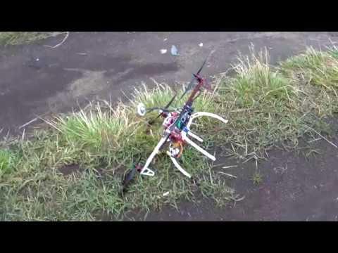 квадрокоптер TAROT 450 полет после краша