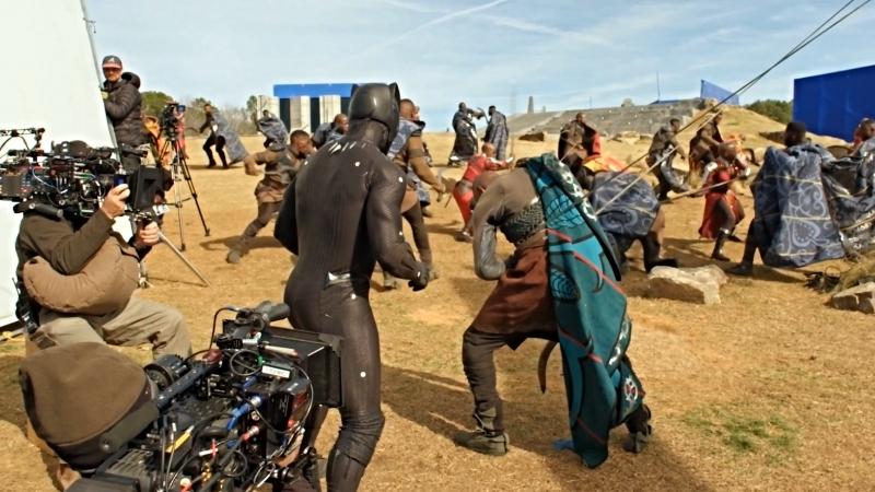 Видео со съёмок фильма Чёрная Пантера смотреть онлайн без регистрации