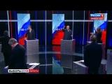 Ксения Собчак и Владимир Жириновский устроили потасовку во время дебатов.