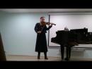 Две части из Второй партиты для скрипки соло И С Баха Галина Силовьева