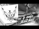 How to make Sketches \ Как я делаю ажурные эскизы