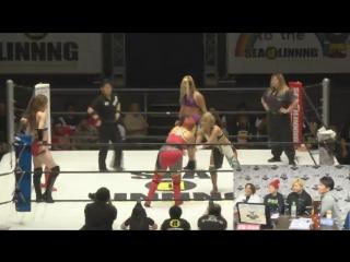 Ryo Mizunami, Saki Akai, Sareee vs. Kaho Kobayashi, Rina Yamashita, Yoshiko (SEAdLINNNG - d-Higher)
