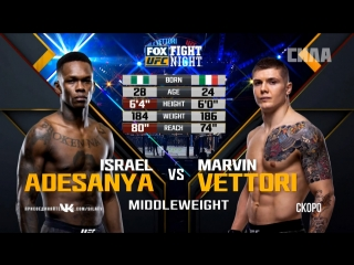 Fight Night Glendale: Israel Adesanya vs Marvin Vettori