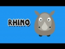 Learning Wild Animals for Kids - Teaching Animals Video for Toddlers - Stacking