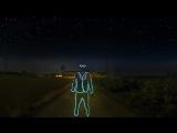 Видео из ночных снимков, снятых на экшн-камеру в технике «рисования светом»