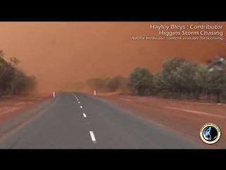 Vehicle forced to stop during dust storm as visibility prevents safe travel near Charleville, QLD