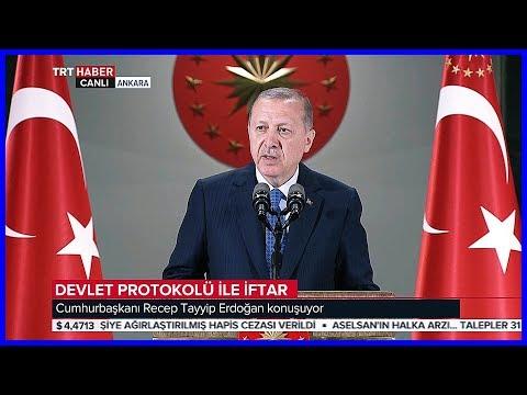 Cumhurbaşkanı Erdoğan'ın Devlet Protokolü İle İftar Programı Konuşması 30 Mayıs 2018