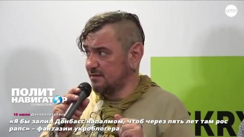 «Я бы залил Донбасс напалмом, чтоб через пять лет там рос рапс» – фантазии укроб
