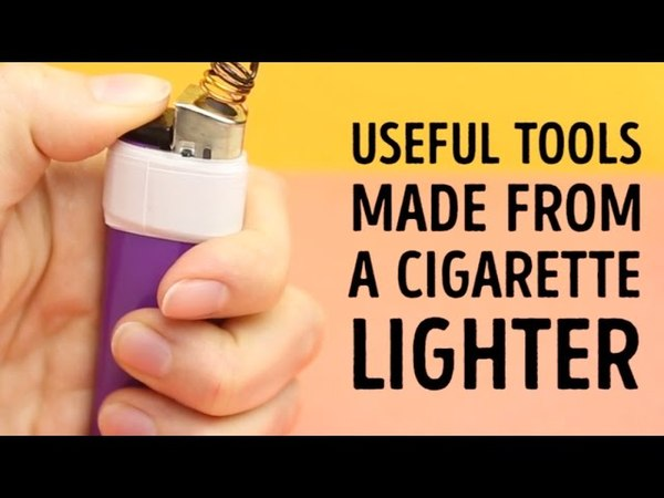 Awesome things you didnt know you could do with lighters l 5-MINUTE CRAFTS