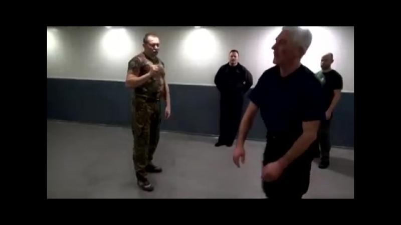 Прикладной рукопашный бой. Съём ударов ногами в динамике