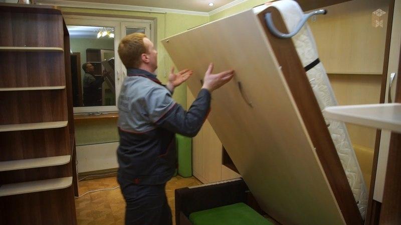 Шкаф-кровать трансформер с диваном
