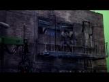 Бен Аффлек прыгает на съемках «Бэтмена против Супермена»
