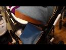 Коляска wingoffly/Aimile 2 в 1 синий джинс на черной раме
