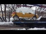 Opel Tigra B  - телепортация сугроба