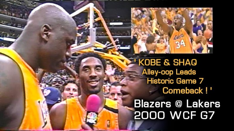Kobe Shaq Famous Alley-oop, Leads Historic Game 7 Comeback (Blazers @ Lakers, 2000 Playoffs)