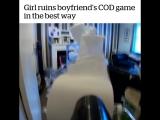 Девушка показала своему парню как выглядит его игра в CoD