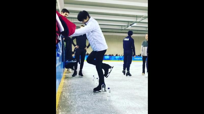 Ice Bottle Challenge by Misha Ge, Zachary Donoghue, Junhwan Cha and Yuzuru Hanyu