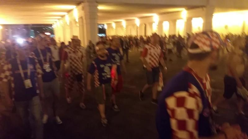 Хорваты после победы над сборной АНГЛИИ в полуфинале FIFA World Cup Russia @ 2018.07.12 чм2018 ф2018