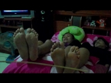 Double thai girl falaka on the bed