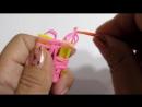 Бантик из резинок. Урок 25. Плетение из резинок ♣Klementina Loom♣