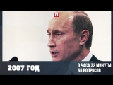 Все пресс-конференции Путина в цифрах