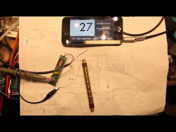Geigerbot and SBM20 Geiger tube. Счётчик гейгера для iPhone за два часа.