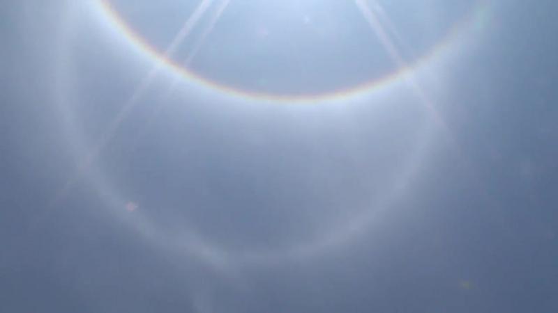 Strange phenomenon in the sky ...iridescent clouds in Chile