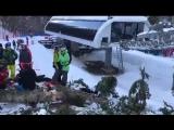 ЧП на Розе Хутор 15 февраля 2018 года - дерево упало на девушку