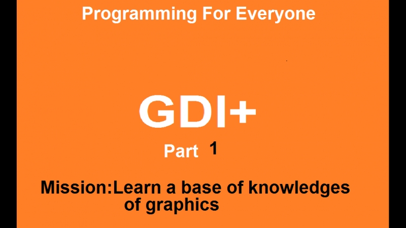 Course by GDI. Part 1