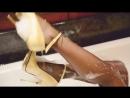 My wet FFnylons Dita von teese nylons (wet  messy)  cervin garterbelt  high heels Мокрые Ножки В Туфлях В Ванне HD
