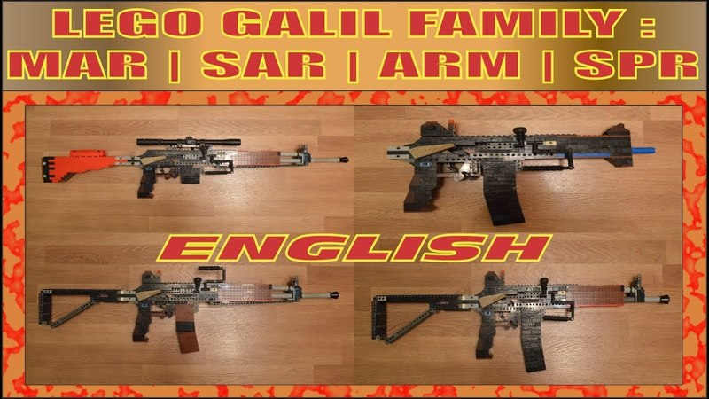 LEGO FAMILY OF WEAPONS | GALIL ARM | BLACK OPS (ENG)