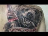 Тату Медведь - значение. История татуировки, эскизы и фото