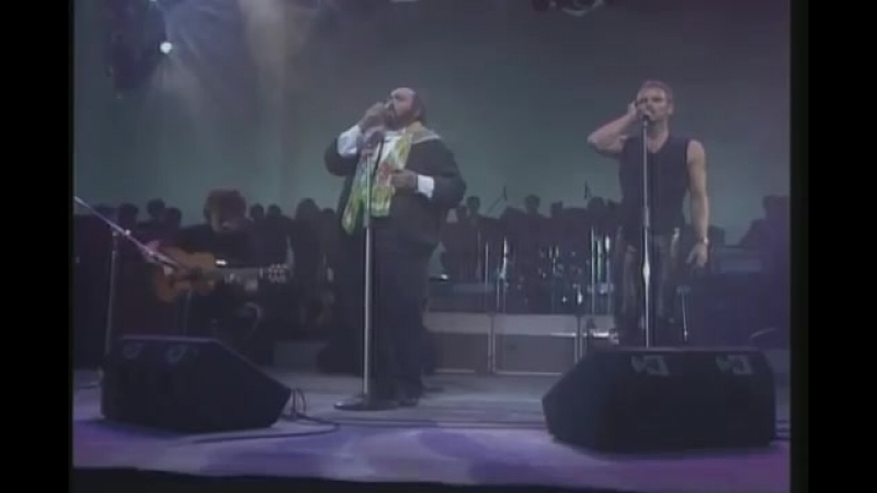 Luciano Pavarotti feat Sting Panis Angelicus Live HQ