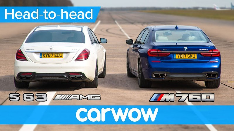 Mercedes-AMG S63 vs BMW M760 - DRAG RACE, ROLLING RACE BRAKE TEST | Head-to-Head