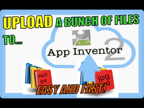 How to upload multiple files to app inventor2