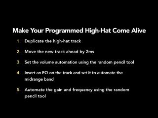 14 - Make your programmed hi-hat come alive